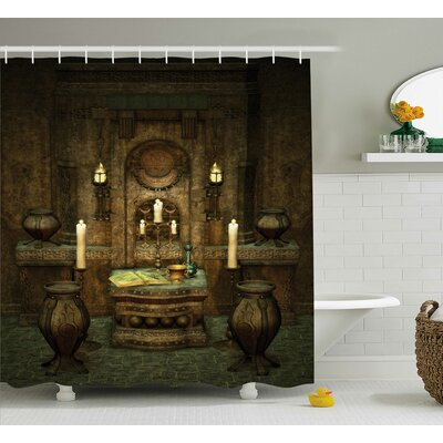 A Room With Altar Shower Curtain Size: 69 W x 70 H