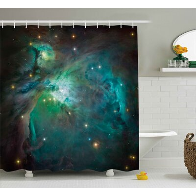 Johnathan Majestic Orion Nebula Dust Cloud Celestial Energy Plasma Astronomical Object Picture Shower Curtain Size: 69 W x 75 H