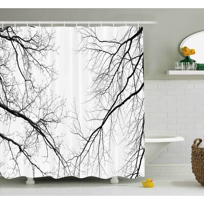 Nancy Forest Trees Branches Leafless Spooky Scary Image Shower Curtain Size: 69 W x 70 H