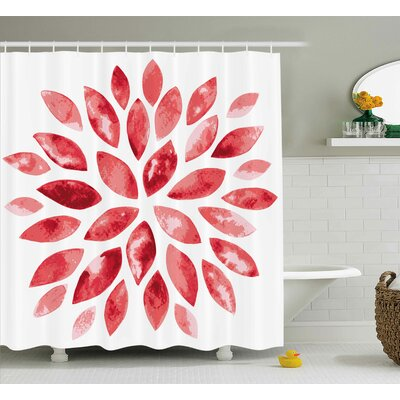 Shelby Watercolor Style Flower Buds Petals Nature Beauty Blossom Artistic Boho Flourish Print Shower Curtain Size: 69 W x 70 H