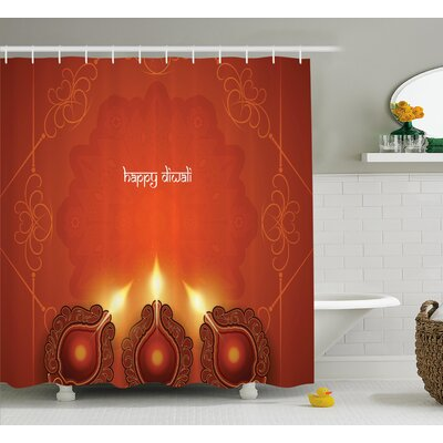Shaffer Diwali Paisley Decor Indian Inspired Backdrop With Wooden Oriental Carving Frames Print Shower Curtain Size: 69 W x 70 H