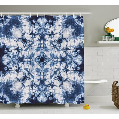Polly Tie Dye Old Fashion Kaleidoscope Loose Unfold Motley Pattern With Inner Outer Layers Shower Curtain Size: 69 W x 75 H