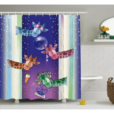Duane Animal Giraffes Shower Curtain Size: 69 W x 75 H