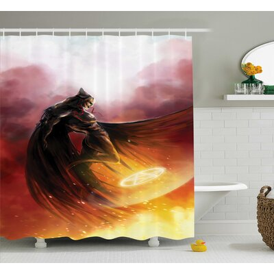 Fantasy World Superhero Shower Curtain Size: 69 W x 70 H