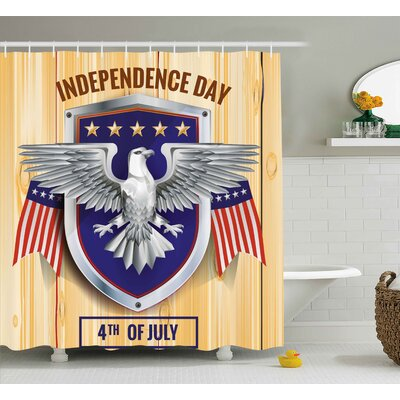 4th of July Celebration Party Place Image Shower Curtain Size: 69 W x 70 H