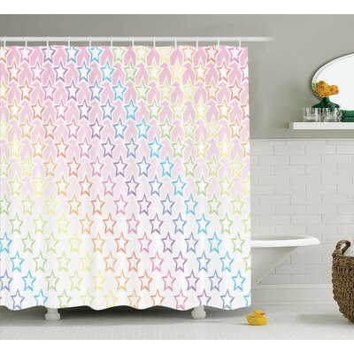 Jolene House Stars Shower Curtain Size: 69 W x 70 H