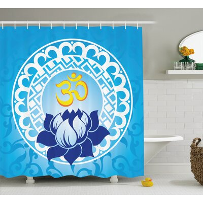 Alayna Chakra Indian Spiritual Design With Lotus Flower Petal Mystic Powers of Nature Print Shower Curtain Size: 69 W x 70 H