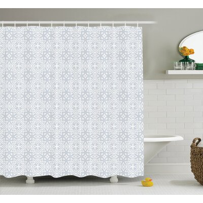 Bowker Authentic Figures With Floral Geometric Properties Artistic Old Shower Curtain Size: 69 W x 75 H