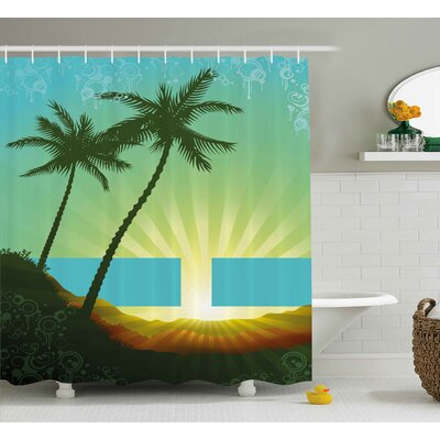 Francine Island Sunrise Shower Curtain Size: 69 W x 70 H