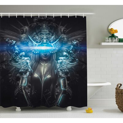 Fantasy World Princess Shower Curtain Size: 69 W x 70 H