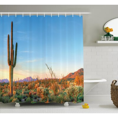 Aultman Cactus Photo of Cactus With Spikes Plant Flower Shower Curtain Size: 69 W x 70 H