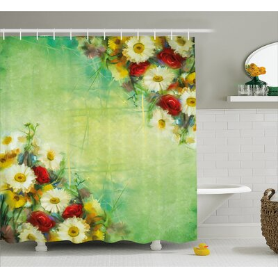 Espinoza Vintage Bouquet Design Shower Curtain Size: 69 W x 75 H