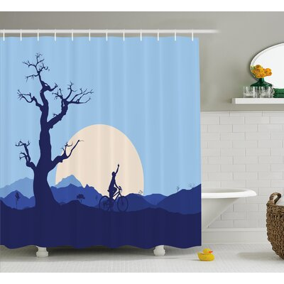 Vickie Rising Moon Shower Curtain Size: 69 W x 75 H