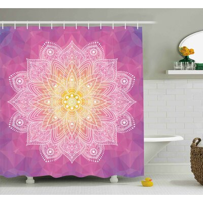 Erica Digital Asian Mandala Shower Curtain Size: 69 W x 84 H