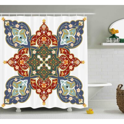 Ashland Oriental Turkish Ottoman Arabic Eastern Decor Flowers Moroccan Image Shower Curtain Size: 69 W x 70 H