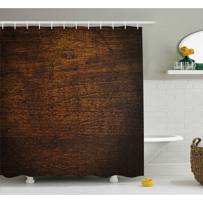 Middleton Wooden Old Vintage Antique Timber Oak Background Rustic Floor Artisan Photo Print Shower Curtain Size: 69 W x 84 H