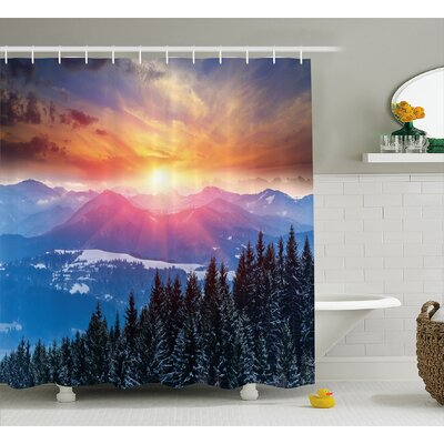 Bolton Sunset Shower Curtain Size: 69 W x 70 H