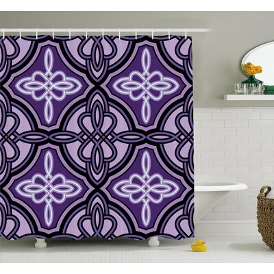 Lennon Ethnic Unique Knot Figures With Swirling and Twisted Line Details Artisan Shower Curtain Size: 69 W x 75 H