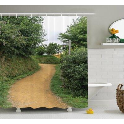 Hobbits Elf Path In Woods of Hobbit Land Shower Curtain Size: 69 W x 70 H