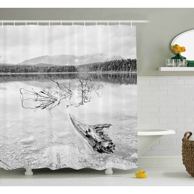 Brynes Driftwood Branch of Fallen Tree Shower Curtain Size: 69 W x 70 H