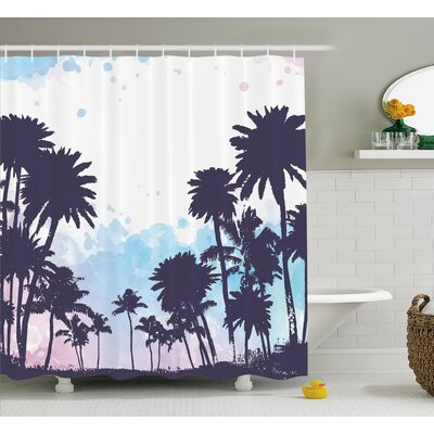 Dora Miami South American Plant Forest Tropic Natural Palm Trees Art Print Shower Curtain Size: 69 W x 70 H