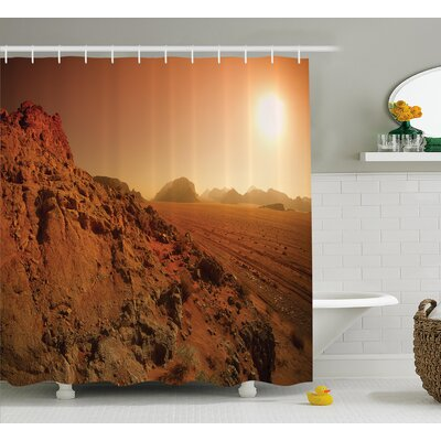 Madeleine Landscape From The Movie Fantastic Fictional Galaxy War Pattern Sunset Mountains Shower Curtain Size: 69 W x 70 H