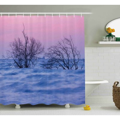 Angelique Driftwood Nature Theme Dead Trees Shower Curtain Size: 69 W x 70 H