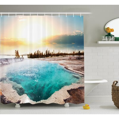 Humphrey Hot Springs Shower Curtain Size: 69 W x 70 H