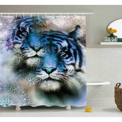 N�stved Animal Two Tiger Safari Cat African Wild Furious Life Big Animals Art Print Shower Curtain Size: 69 W x 70 H