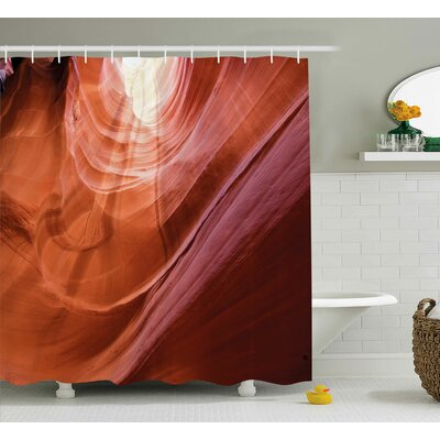 Richmond Nature Theme Inside of The Antelope Canyon Shower Curtain Size: 69 W x 70 H