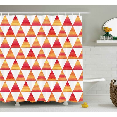 Noah Abstract Triangle Geometric Forms Shower Curtain Size: 69 W x 70 H