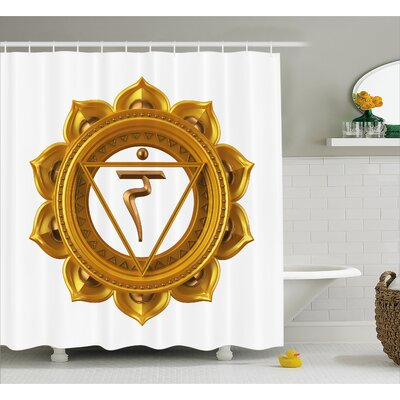 Corrine Chakra Symbol Shower Curtain Size: 69 W x 70 H