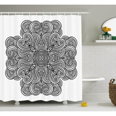 Joseph Mediaeval Rotary Heraldic Design With Squared Shape Shower Curtain Size: 69 W x 70 H
