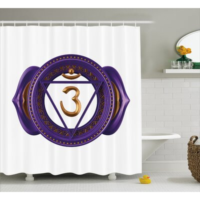 Deandra Chakra Asian Ethnic Occult Sign With Iconic Elements Esoteric Culture Boho Design Shower Curtain Size: 69 W x 70 H