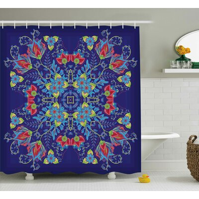 Armbrust Bohemian Malaysian Floral Bouquet Embellish Ornamental Royal Asian Artisan Image Shower Curtain Size: 69 W x 70 H