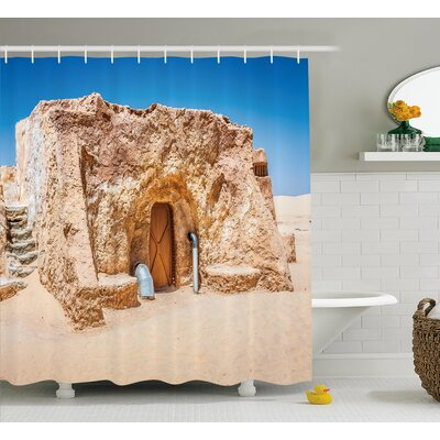 Juliet One of Abandoned Sets of Movie Shower Curtain Size: 69 W x 70 H