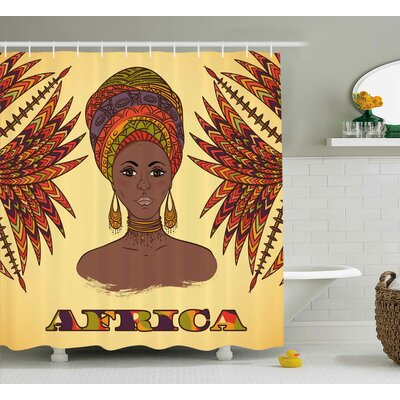 Kowloon African Ethnic Woman Shower Curtain Size: 69 W x 70 H