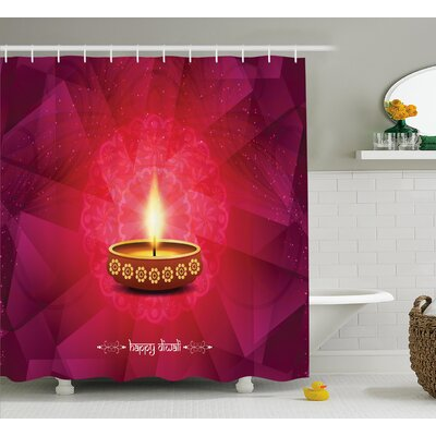 Mcgrath Diwali Paisley Decor Backdrop Image With Diwali Religious Festive Celebration Indian Print Shower Curtain Size: 69 W x 70 H