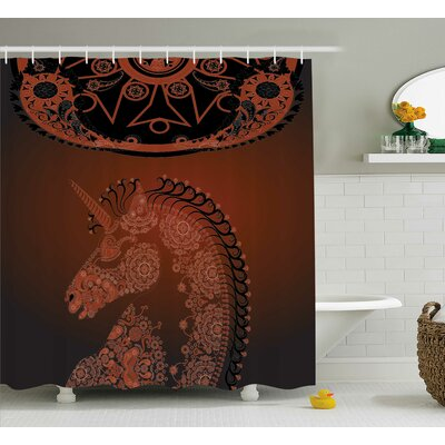 Beachmont Vintage Mandala Indian Shower Curtain Size: 69 W x 84 L