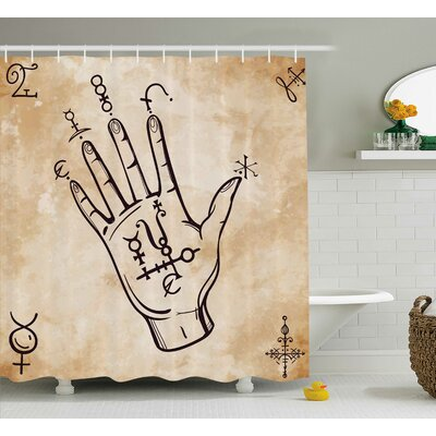 Carel Retro Spiritual Medieval Shower Curtain Size: 69 W x 70 L