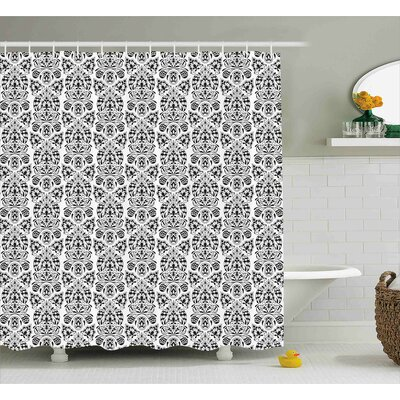 Annalise Floral Paisley Oriental Shower Curtain Size: 69 W x 70 L