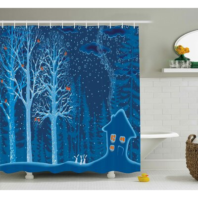 Kole Winter Scenery with Show Shower Curtain Size: 69 W x 75 L