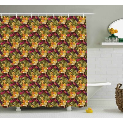 Anndale Bohemian Oriental Herb Shower Curtain Size: 69 W x 70 L