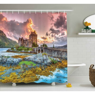 Scenery Princess Dream Castle Print Shower Curtain Size: 69 W x 75 L