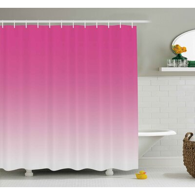 Inspired Digital Hot Pink Design Print Shower Curtain Size: 69 W x 70 L