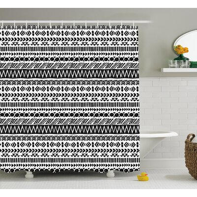 Bangs Aztec Mystic Old Figure Shower Curtain Size: 69 W x 75 L