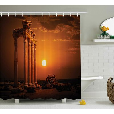 Bretta Antique Style Monument Shower Curtain Size: 69 W x 75 L