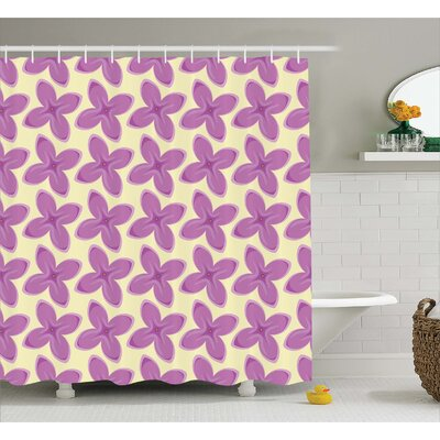 Hutcherson Fresh Floret Buds Print Shower Curtain Size: 69 W x 70 L