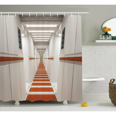 Space Future Interior Corridor Shower Curtain Size: 69 W x 70 L