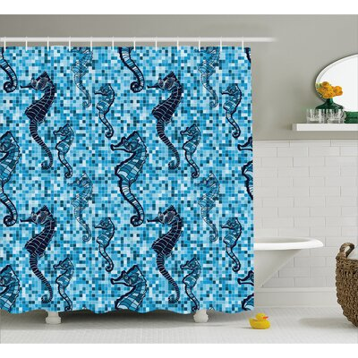 Roxanna Ocean Mosaic Pattern Shower Curtain Size: 69 W x 75 L